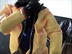 Suiting up in 4 layers of madison ivy teacher fuck student and plastic Part 33