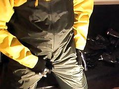 Heavy nicole aniston tights and rainwear pt2