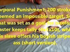 التدريب الرقيق nicolas71:العقاب البدني ، 200 السكتات الدماغية