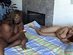 Redhead brunette ebony chicks BBW pussy banging