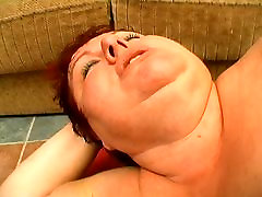 Enormous lusty mature getting hard cock