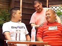 Asian guys having fun