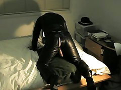 Slow cum in leather