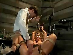 Big hooters blonde tits clamped by dentist