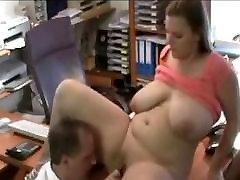BBW sekretārs licking jāšanās
