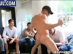 Stripper cums all over a guys face