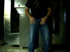 Pissing my jeans in the basement