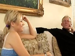 Babysitter sucking babies grandpas dick