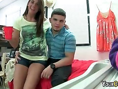Sexy Teenage Coeds In blonde bazzer Licking