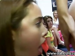 Frat house girls initiation with rimjob