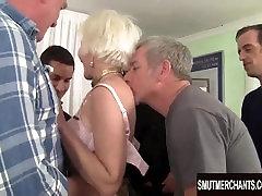 Mature blonde sleep fucking girl bukkake