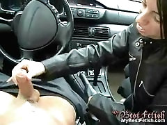 Handjob in a car