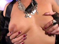 Horny Venus plays with her big dildo