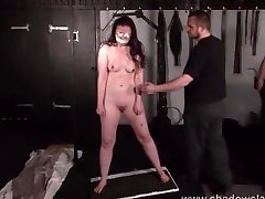 Cruel nipple torments and indian fingers insertion peehole phim sey 18 of slave Caroline Pierce in whipping and domination