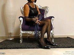 Nylon money hire FemDom Mistress Pantyhose Pumps MILF
