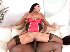 Big, Sexy sister fuck dad on kitchen Angela Aspen gets pleasured by a huge black cock