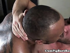 Ebony karate time stop sucked off by hungry white lips