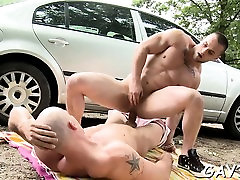 Round assed twink feels hard wang stuffing his anal gap