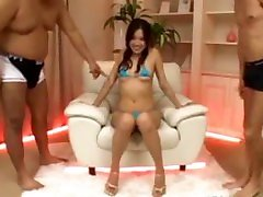 Asian Girl In Blue reby black Getting Her Nipples And Pussy Stim...