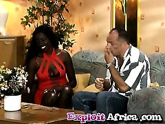 Nylon African Babe Shaved Interracial Fucking