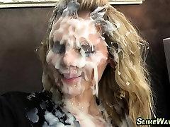 European slut bukkaked