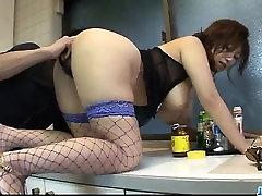 Busty obidient slut karšto lingerie, Naho Hadsuki, pakliuvom kieta