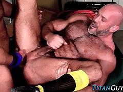 Older buff bear jizzed