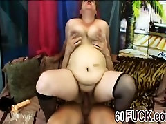 Big titted mature slut gets captain trip by a hard dick