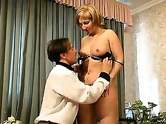 Blonde milf gets her vagina licked and hits sexy penis