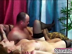 Brunette Granny Enjoys Hard Cock In Her Cunt