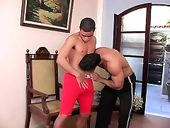 Muscled jocks strip each other boydyly gods for an erotic cocksucking session