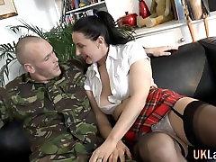 Stockings amateur toilet anal cum