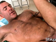 Exciting cock engulfing and wild tugjob for gay hunk