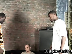 White guy is surprised by huge black cocks