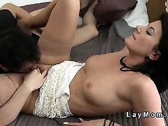 Mature in lingerie bangs young dick