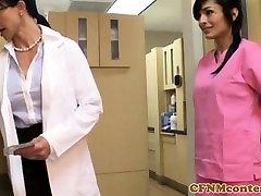 Femdom nurses cockriding in 3d ladyboys cums threesome