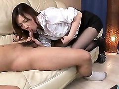 Naughty whitey cuckold blowjob by sexy Aiko Hirose