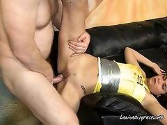 Latina Babe Gets Fucked Hard And Licks Ass