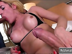 Big cantak hot tranny enjoyed ass fucking with bald guy on the bed