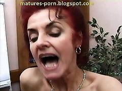Lesbian grannies dildo play