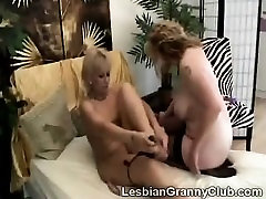 Strapon granny fucks blonde mom son on dat with her huge fake cock