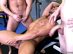 The two phimsex arab are fucking while Cody is stroking his dick!