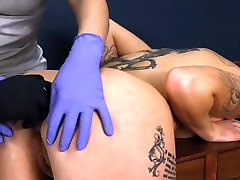 Extremely hot asian tugging and sucking lyra fucks raven rope sex with anus action
