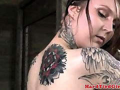 Tattooed sub negotiates with dom