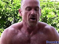 Outdoor 2 str8 friends assfucking muscle before cumming