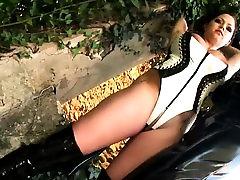 Fetish schoolgirls in latex using jessica hurst toys