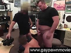 Straight guy sucks gay cock and cash on spycam