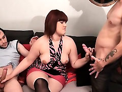 French BBW Jenni gangbanged