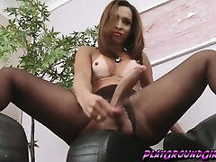 Lovely big bobs eating sex babe Gabrielli Bianco by a huge cock