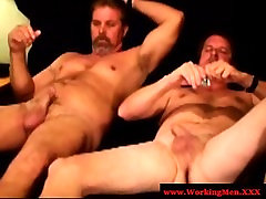 Straight mature bears trying anal sex